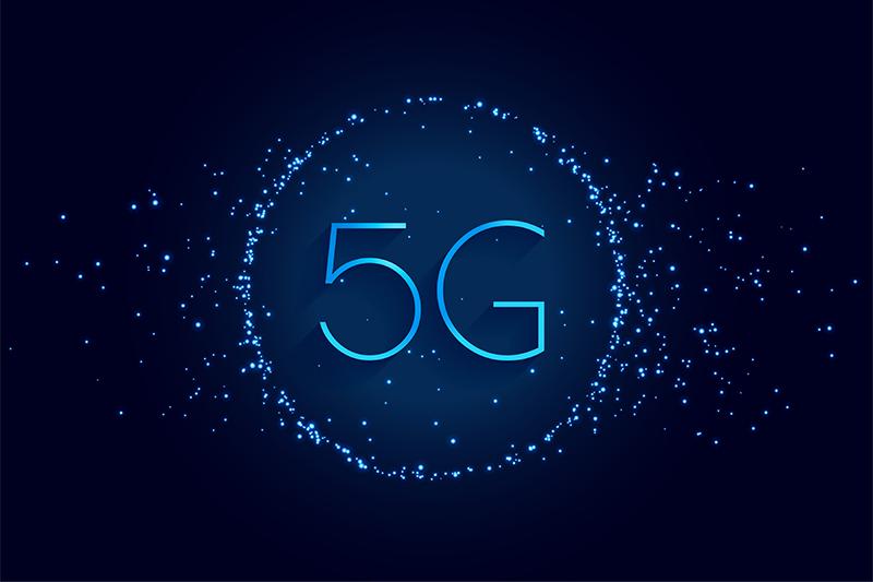 5th generation internet wireless technology digital background